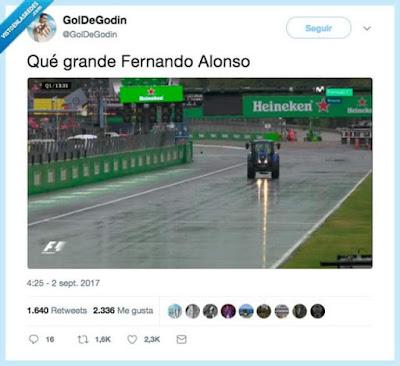 Qué grande, Fernando Alonso, fórmula 1, tractor