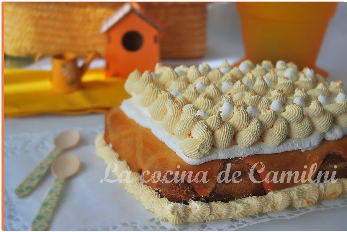 Poke cake de brownie de chocolate blanco con crema de cacahuetes (La cocina de Camilni)