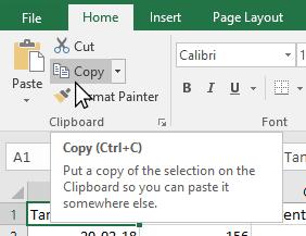 Gambar copy konten sel