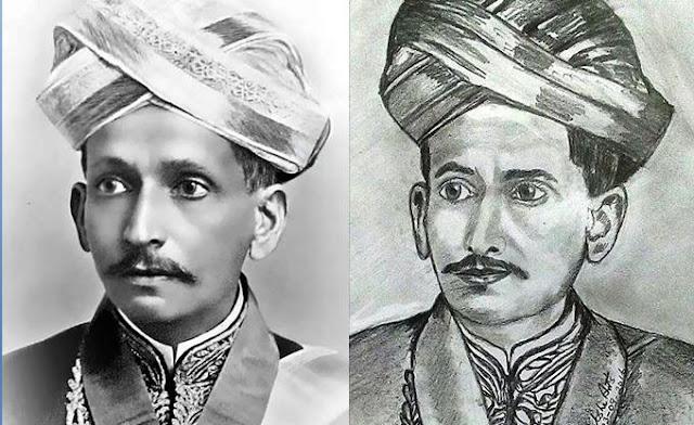 PENCIL DRAWING - M. Visvesvaraya