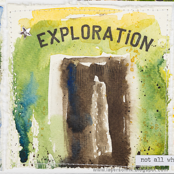 Layers of ink - Watercolor Storytelling Mini Panels by Anna-Karin Evaldsson