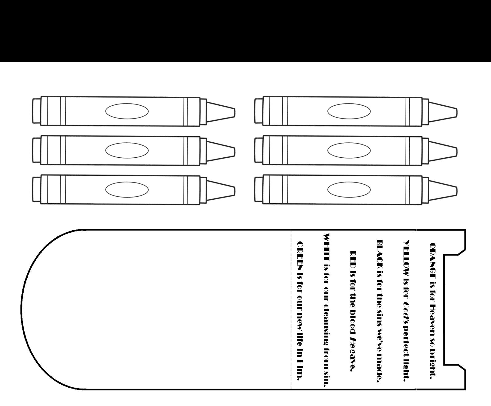 Printable homeschool children 39 s church crayon box craft for Crayon labels template