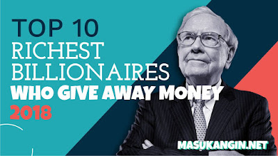 Millionaires who give Away Money 2018