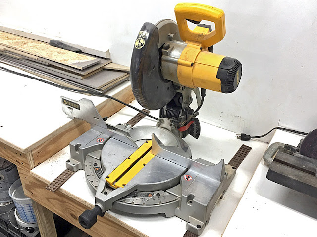 Dewalt Miter Single Bevel Chop Saw rotted spindle, rotted porch railing, rot fix porch painting