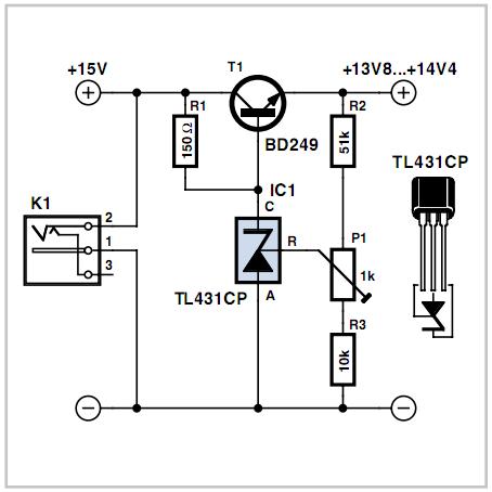 How to make Low-drop Series Regulator Circuit using a TL431 - DIY