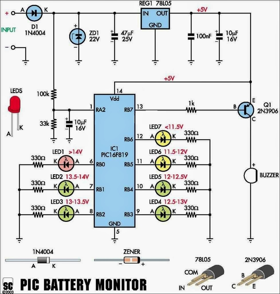 Automotive Battery Diagram Indicator Wiring Low Cost Car Monitor Circuit 978x1026