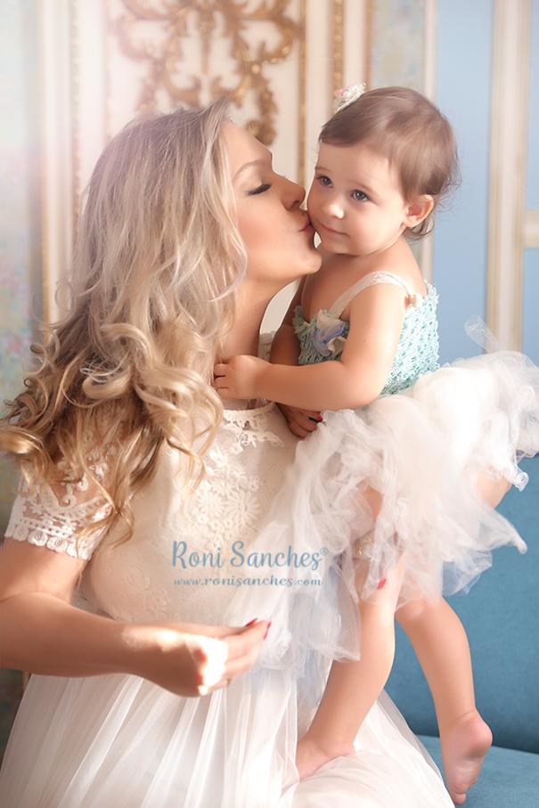 Mãe e filha em ensaio fotografico
