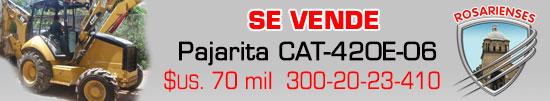 Vendo Retroexcavadora CAT-420E / 06 en 70mil dóleres mas IVA en Villa del Rosario. www.rosarienses.com