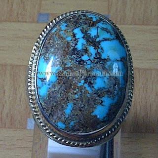 Cincin Batu Permata Pirus Persia - ZP 814