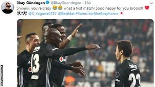 Shinji Kagawa: On-loan Besiktas midfielder scores twice on debut
