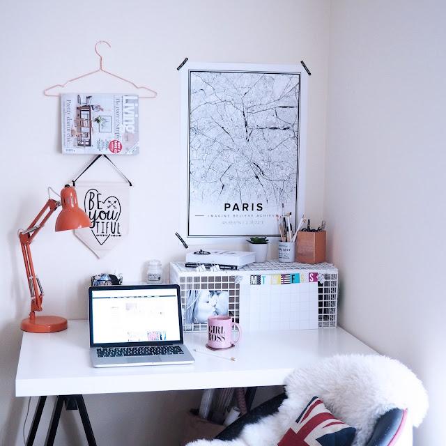 creative desk space