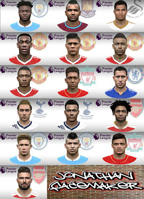 PES 2016 Facepack Barclays Premier League by Jonathan Facemaker