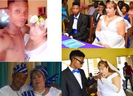 Young Nigerian Man Marries Older Oyinbo Woman (Photos)