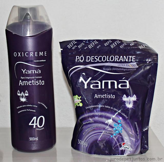 Resenha do pó descolorante ametista da Yama e da Oxigenada Ametista