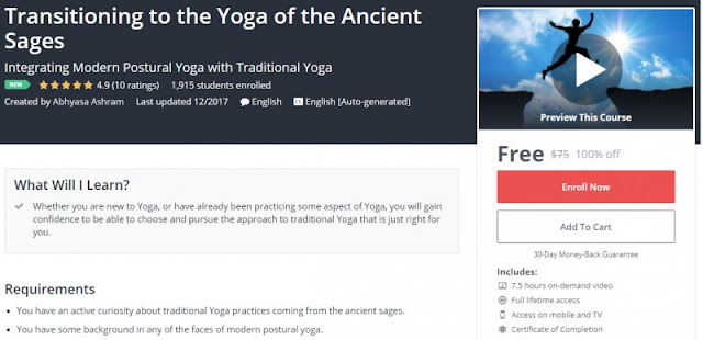 [100% Off] Transitioning to the Yoga of the Ancient Sages| Worth 75$