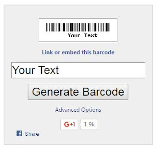 Barcode untuk Blog