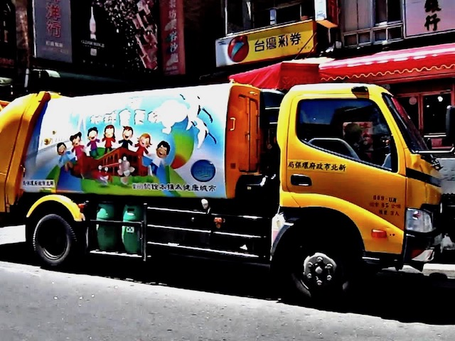 Garbage collection truck in Taiwan