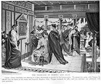 Entre la aristocracia romana era habitual concertar bodas para reforzar alianzas políticas. A fin de estrechar sus lazos con Pompeyo, compañero de triunvirato, César le concedió la mano de su hija Julia. La gran diferencia de edad entre los cónyuges, de más de veinte años, no era inusual en Roma. Para llevar a cabo la boda, César tuvo que romper el compromiso de Julia con Quinto Servilio Cepión, al que Pompeyo entregó a su propia hija en compensación. Julia fue una ejemplar esposa. Se dice que Pompeyo la amó verdaderamente y quedó muy afectado cuando murió de parto. Julio César organizó unos juegos de gladiadores en su memoria, los primeros que se celebraban en honor de una mujer.