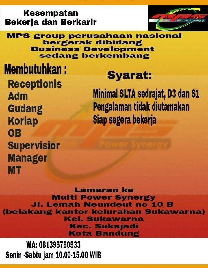 Lowongan Kerja MPS Group Bandung Maret 2018