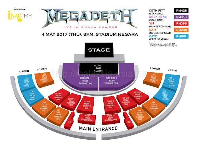 Megadeth Live in KL, Malaysia