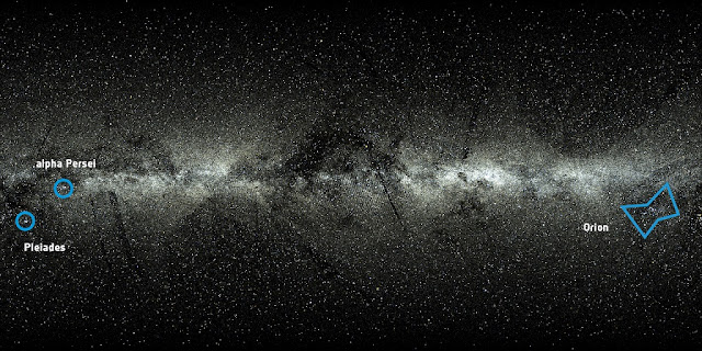 An all-sky view of the 2 057 050 stars from the Tycho-Gaia Astrometric Solution (TGAS), one of the products of the first data release from ESA's Gaia mission. TGAS lists positions, distances and proper motions for stars in common between Gaia's first year and the earlier Hipparcos and Tycho-2 Catalogues, both derived from ESA's Hipparcos mission, which charted the sky more than two decades ago. The view also includes 24 320 bright stars from the Hipparcos Catalogue that are not included in Gaia's first data release. Credit: ESA/Gaia/DPAC