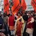 अखिल भारतीय ब्राह्मण समाज द्वारा जलाया गया रामदेव बाबा का पुतला