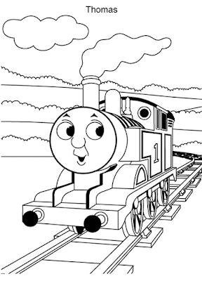 Gambar Mewarnai Thomas and Friends - 13