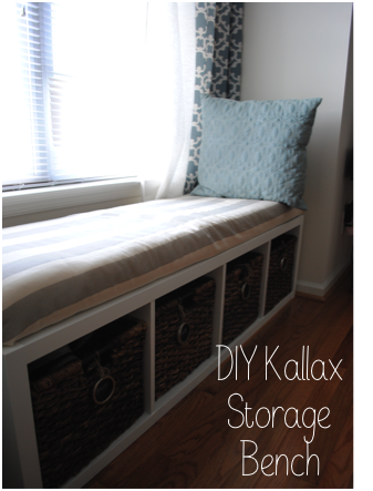 the adorable mess diy ikea kallax storage bench. Black Bedroom Furniture Sets. Home Design Ideas