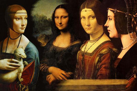Four portraits by Leonardo