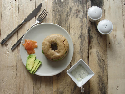 Bagel saumon et avocat