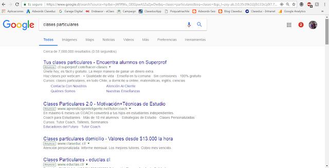como ayudó google adwords a Claseduc