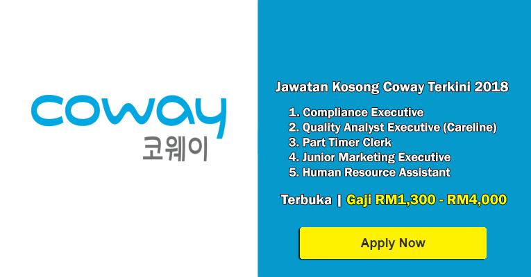Jawatan Kosong di Coway (M) Sdn Bhd