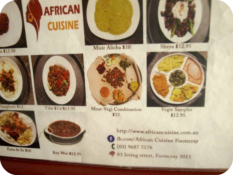 Curious charlie for African cuisine restaurant