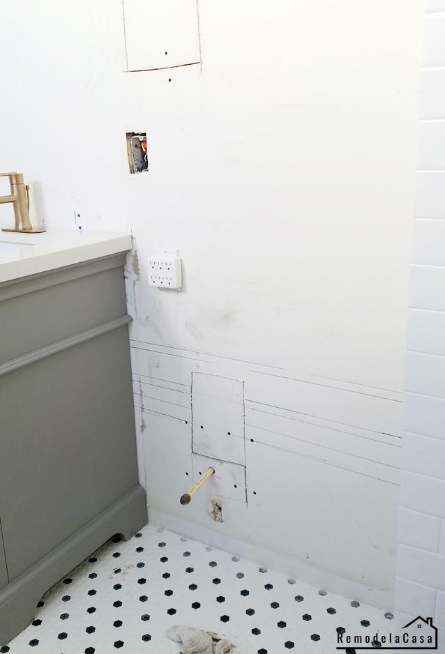 Bathroom Renovation: How to Install Real Shiplap