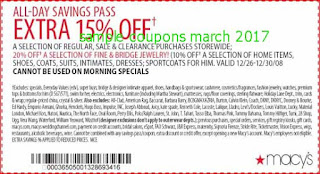 free Macy's coupons for march 2017