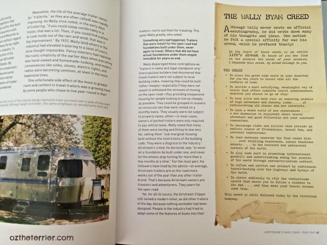 Wally Byam's Creed from Airstream: America's World Traveler book