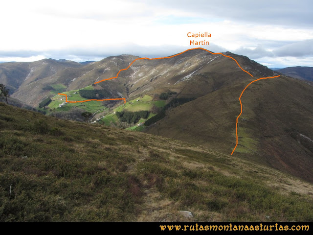 Ruta Alto Aristebano, Estoupo, Capiella Martín: Del pico Estoupo a la Capiella Martín