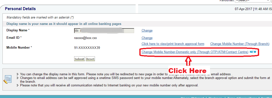 How to change mobile number in Sbi account online - (without