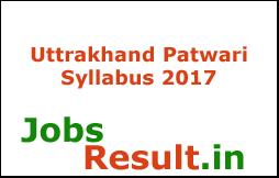 Uttrakhand Patwari Syllabus 2017