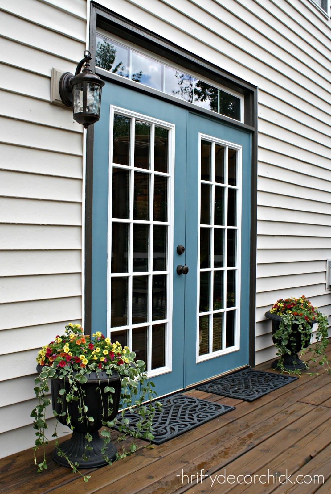 Our productive and fun summer break from thrifty decor for Exterior french patio doors
