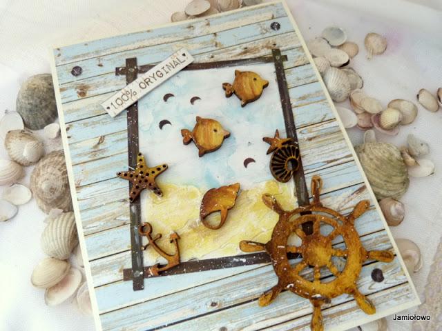 kartka z dnem morskim