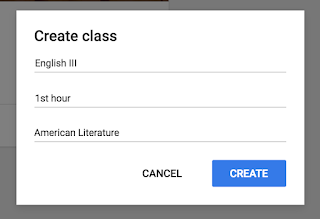 Create a new class in Google Classroom™  www.traceeorman.com
