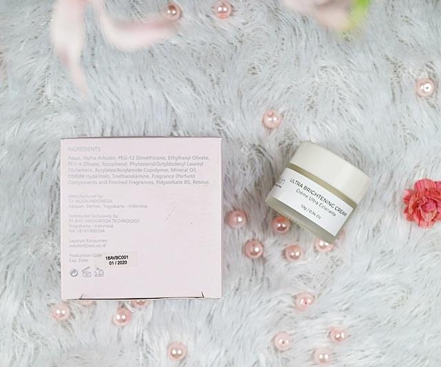 Avoskin Ultra Brightening Cream Ingredients