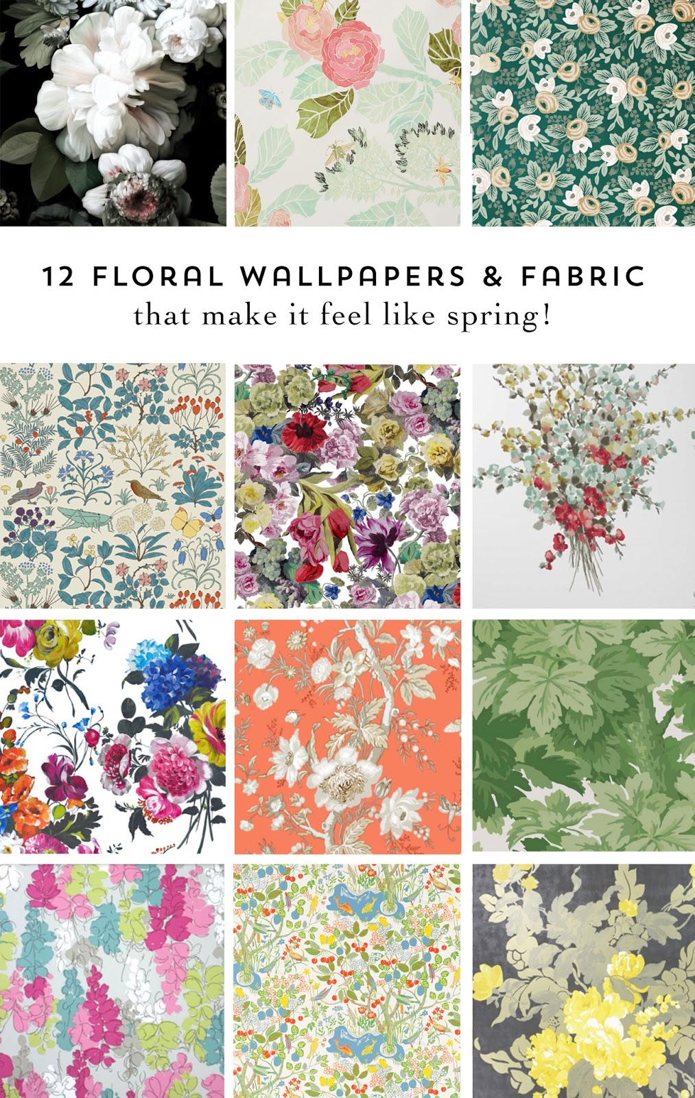 Rambling Renovators | floral wallpapers and fabric