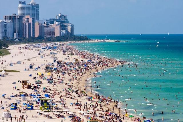 Movimentação de turistas em Miami em junho