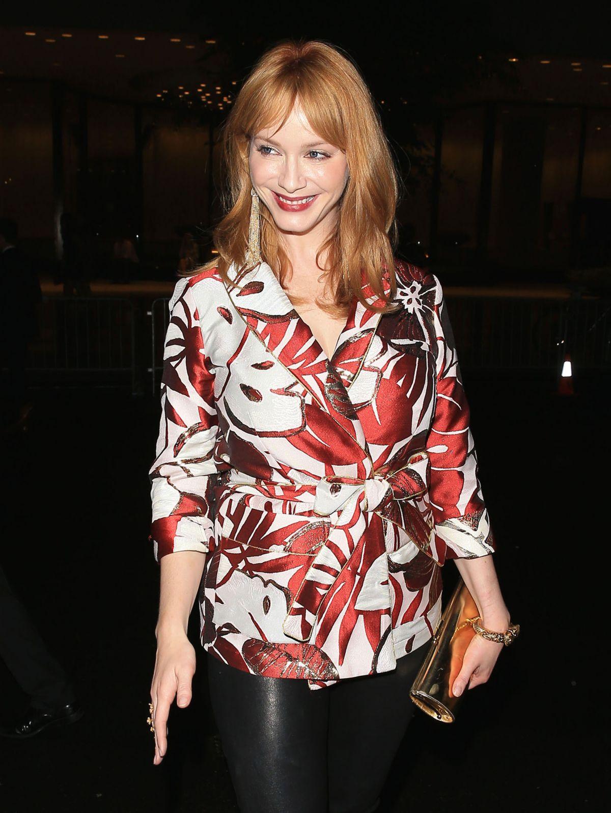 HQ Photos of Christina Hendricks At Harper's Bazaar Celebrates Icons By Carine Roitfeld In New York City