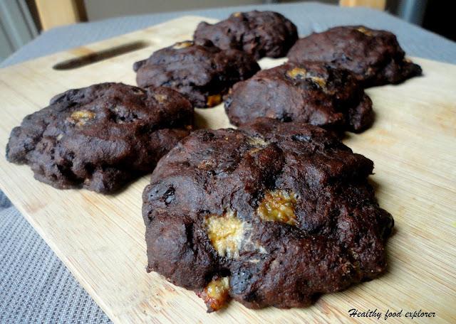 Zdrowe ciastka czekoladowe
