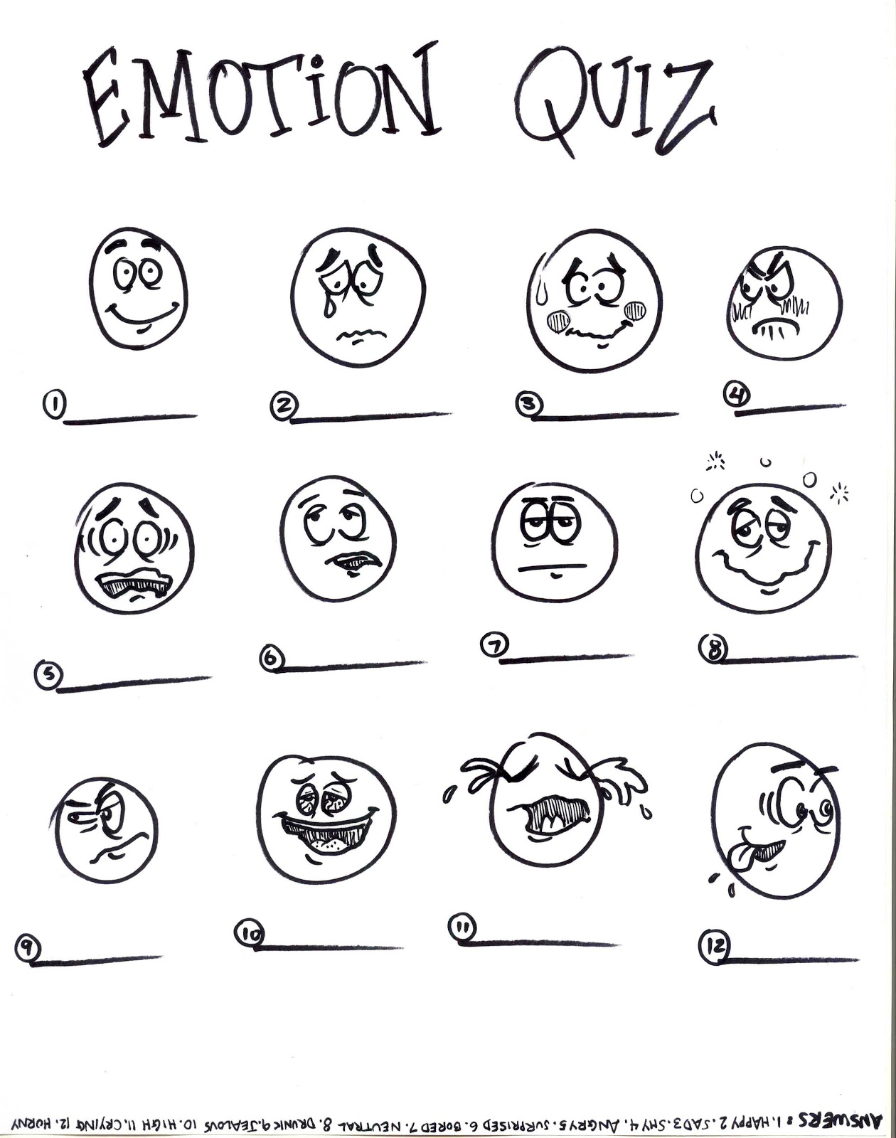 Sketch A Week Emotion Quiz