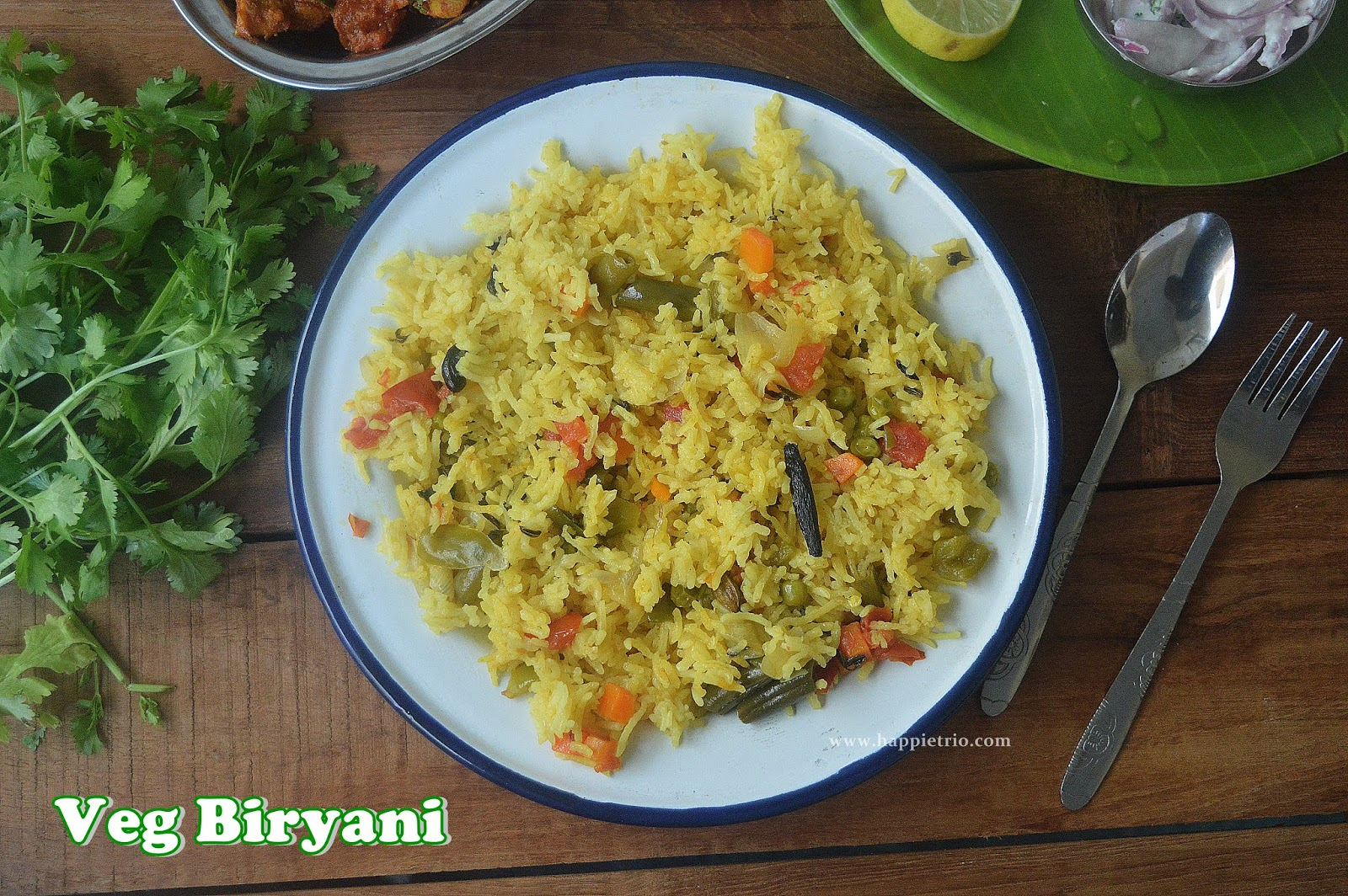 Vegetable Biryani Recipe | Simple Veg Biryani