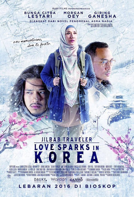 Sinopsis Film Jilbab Traveler: Love Sparks In Korea (2016)